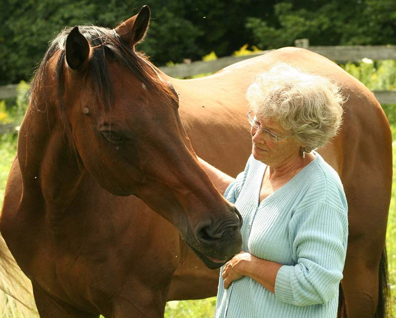 Edie Jane Eaton with horse - LIstening To Whispers